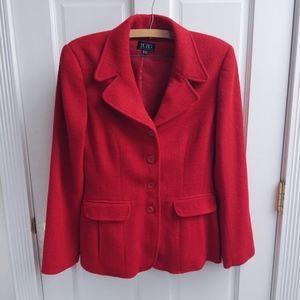 Vintage BCBG MaxAzria Red Pea Coat